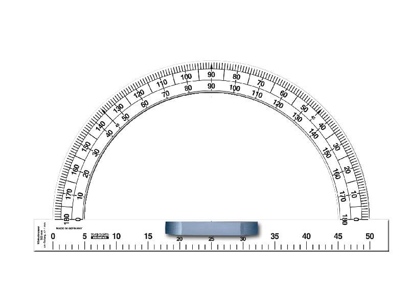 Wandtafel-Winkelmesser